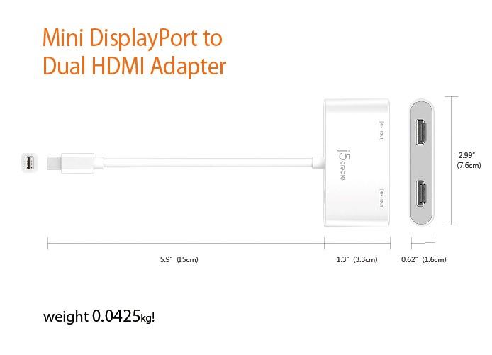 Buy the J5create JDA156 Mini DisplayPort to Dual HDMI MST HUB, designed  for    ( JDA156 ) online